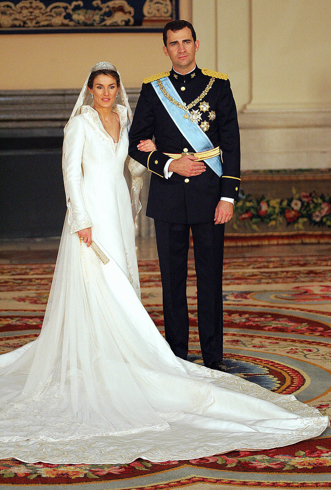 Prince Felipe and Princess Letizia got married on May 22, 2004.