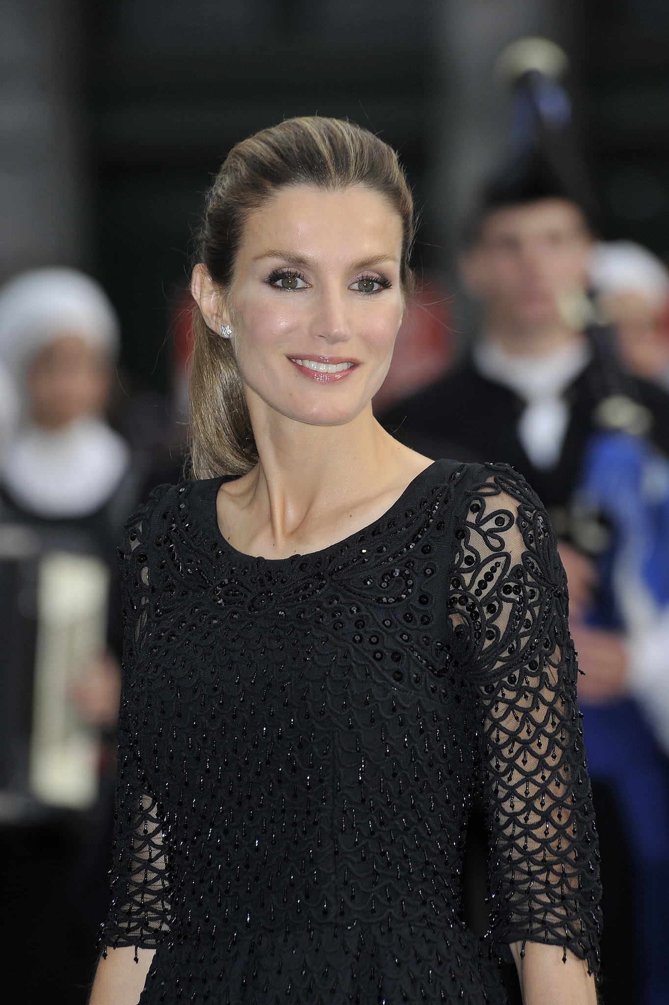 Princess Letizia went glam for an event at the Campoamor Theater in October 2010.