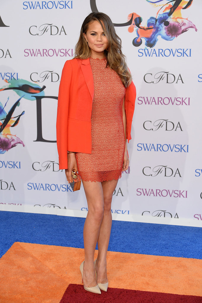 Chrissy Teigen at the 2014 CFDA Awards