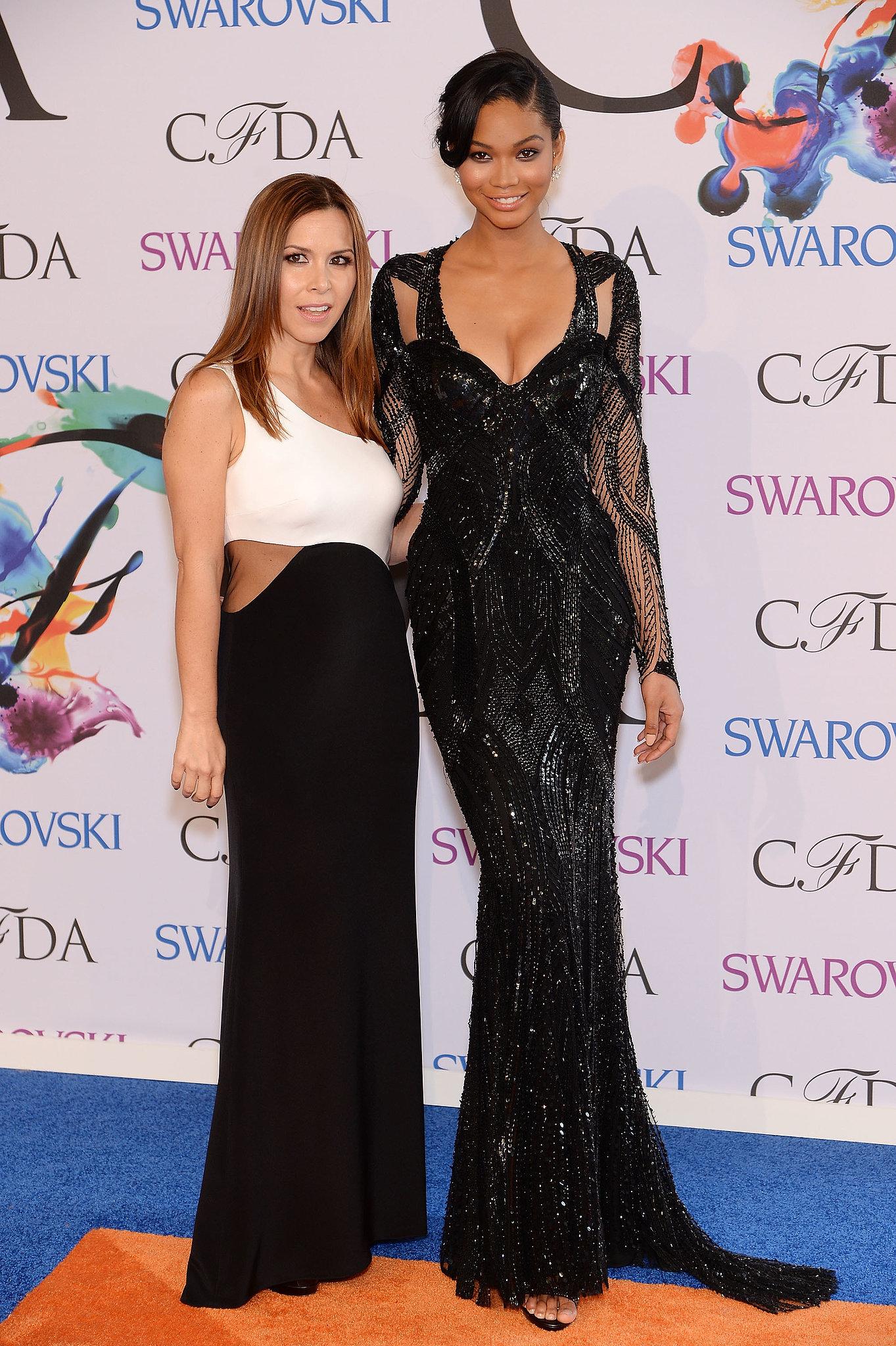 Chanel Iman at the 2014 CFDA Awards