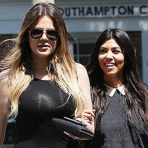 Kourtney and Khloe Kardashian Filming in the Hamptons