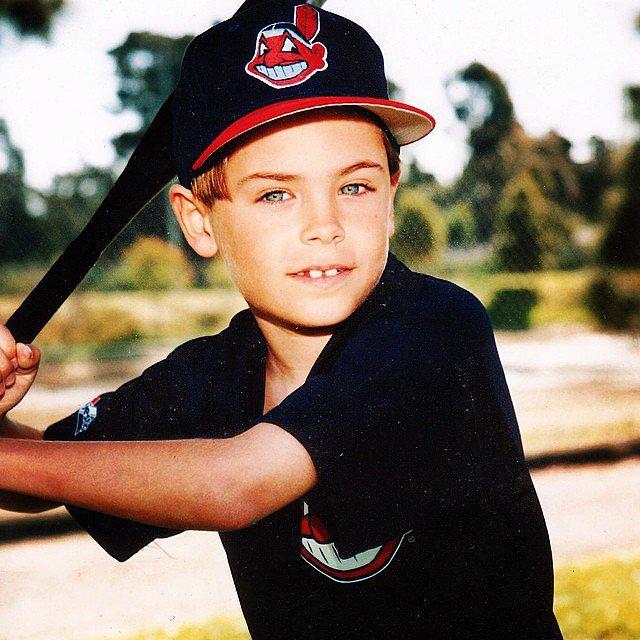 Here's baby Zac Efron playing baseball. Source: Instagram user zacefron