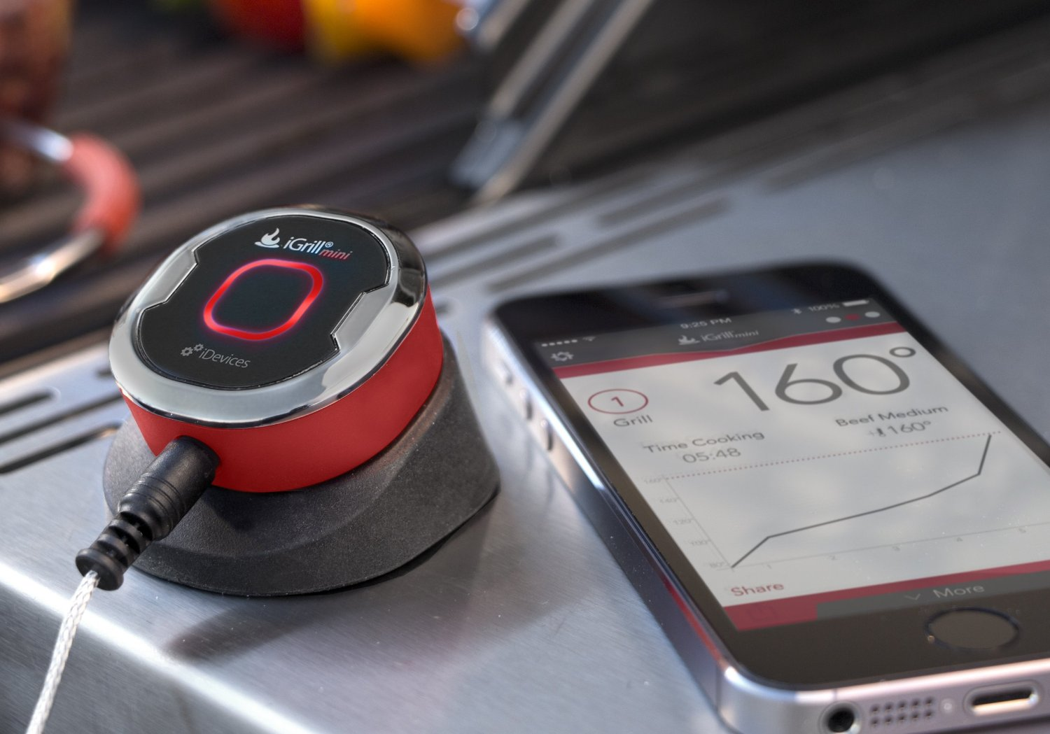 With the iGrill mini thermometer ($40), Dad can step away from the grill and spend more time with friends and family. From up to 150 feet away, he'll know when the meats are ready because the device will send an alert to his phone.