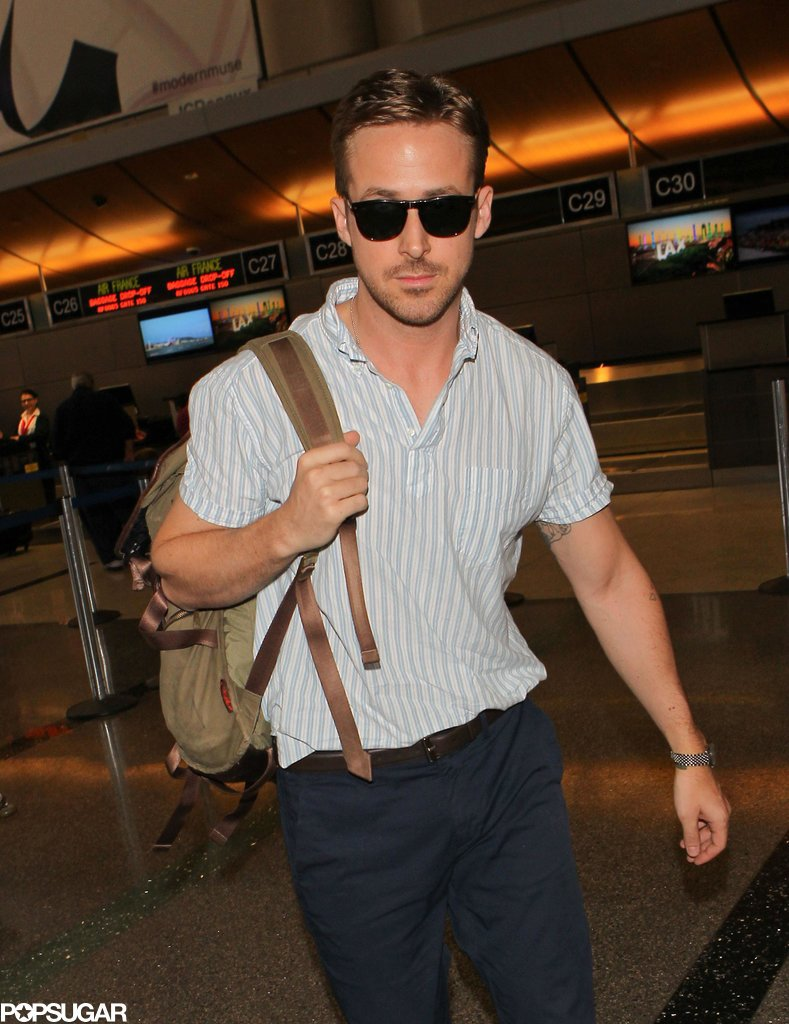 Seriously now, who looks this good at the airport? Who?!