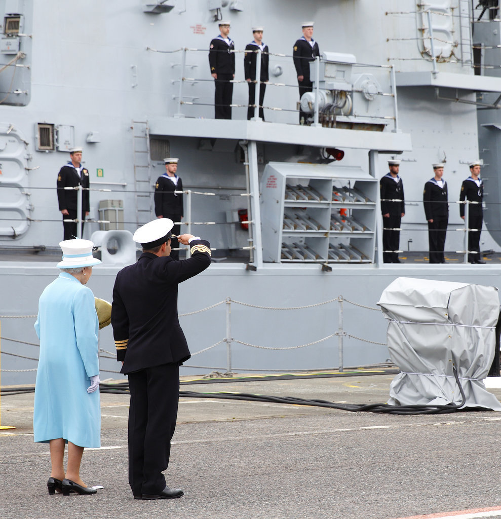 Most: When She Visited a Naval Ship