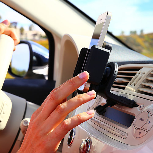 No matter which gadget your dad loves most, chances are he'll love this convenient smartphone CD slot mount ($25). The mount inserts into a front-loading CD player slot and holds anything from a cell phone to a satellite radio to a GPS unit.