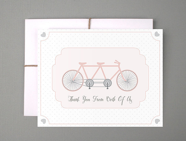 Tandem Bicycle Thank You Card