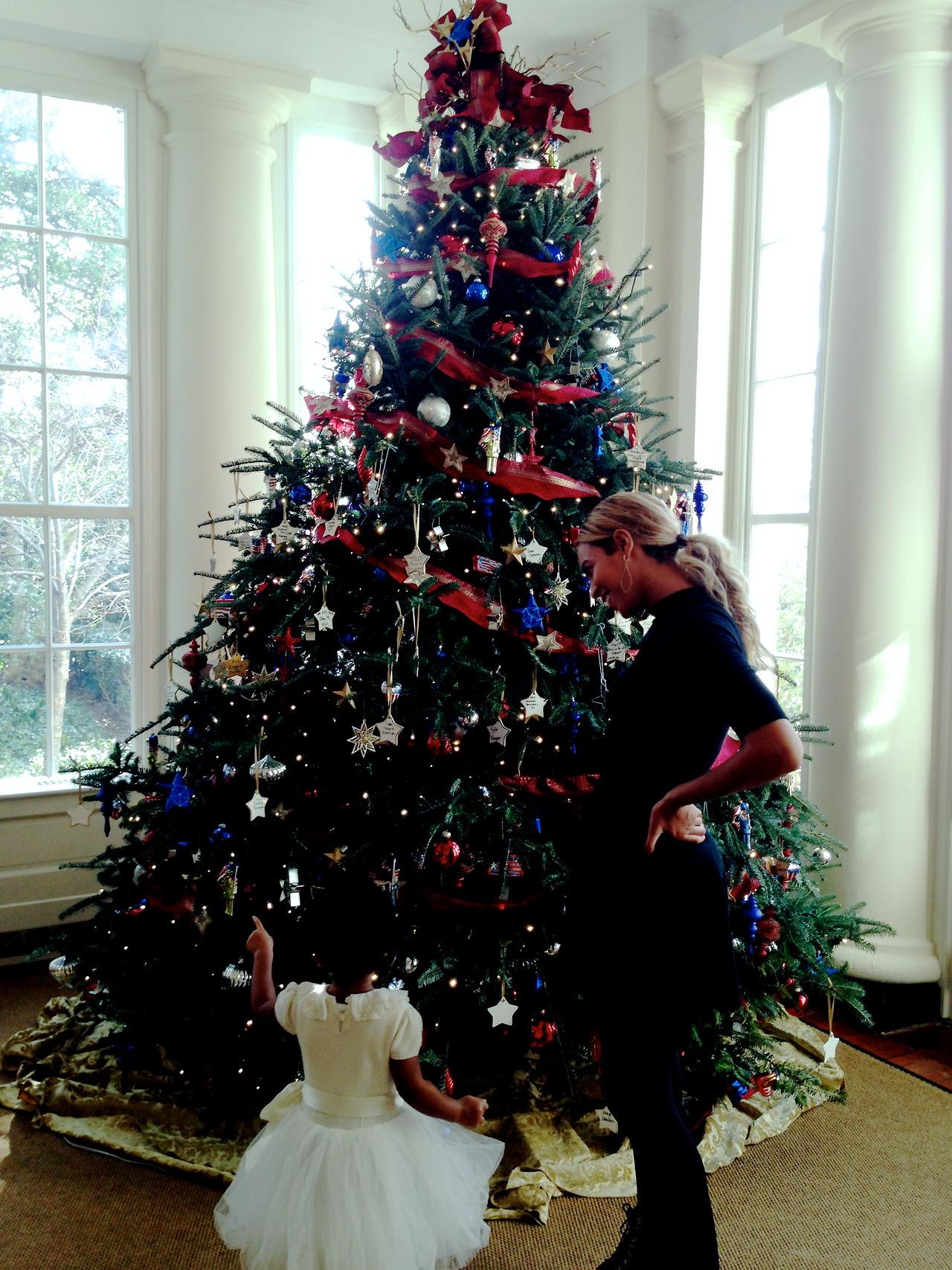 She celebrates the holidays in style.