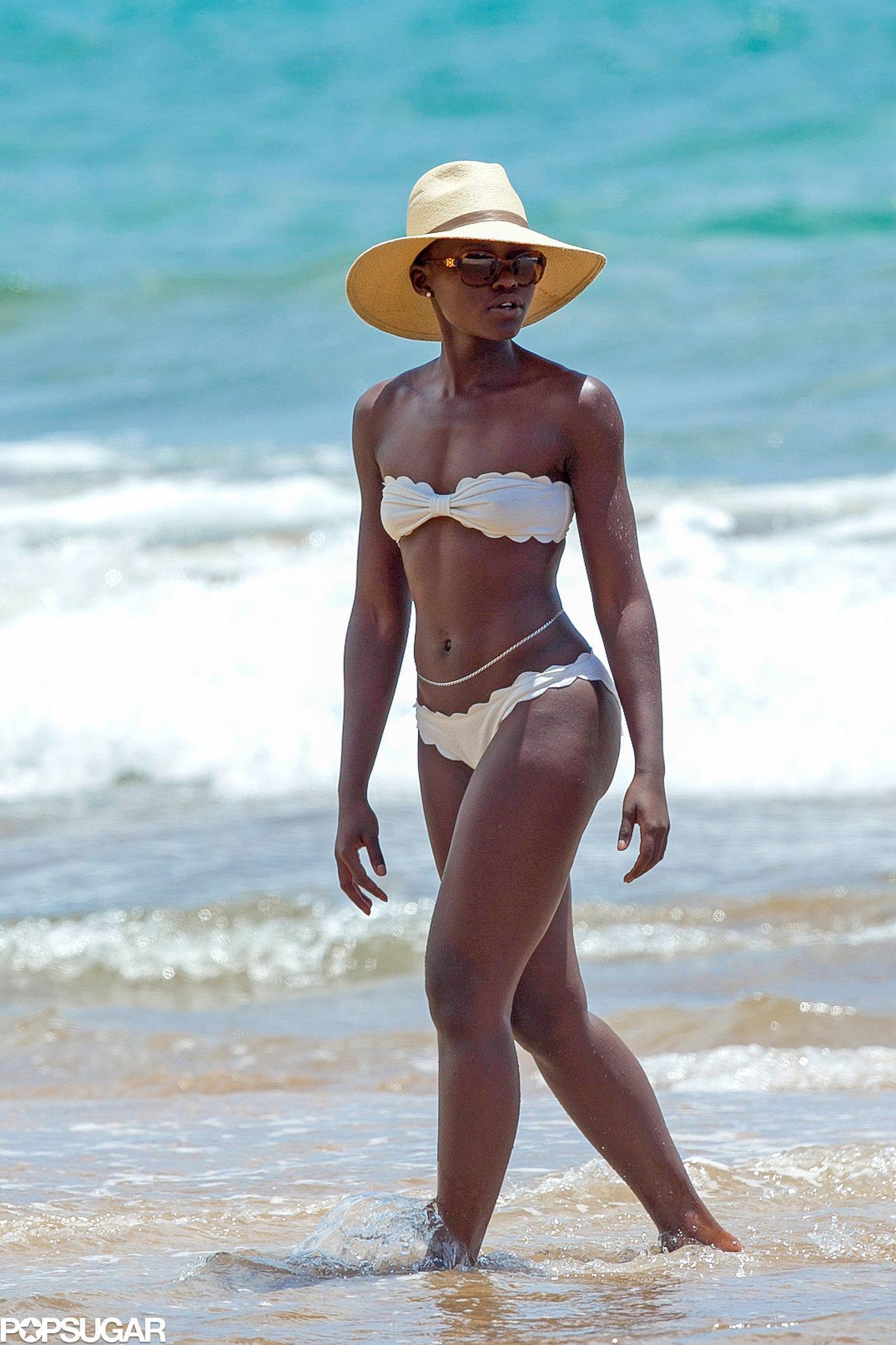 Lupita Nyong'o Shows Off Her Bikini Body in Maui!