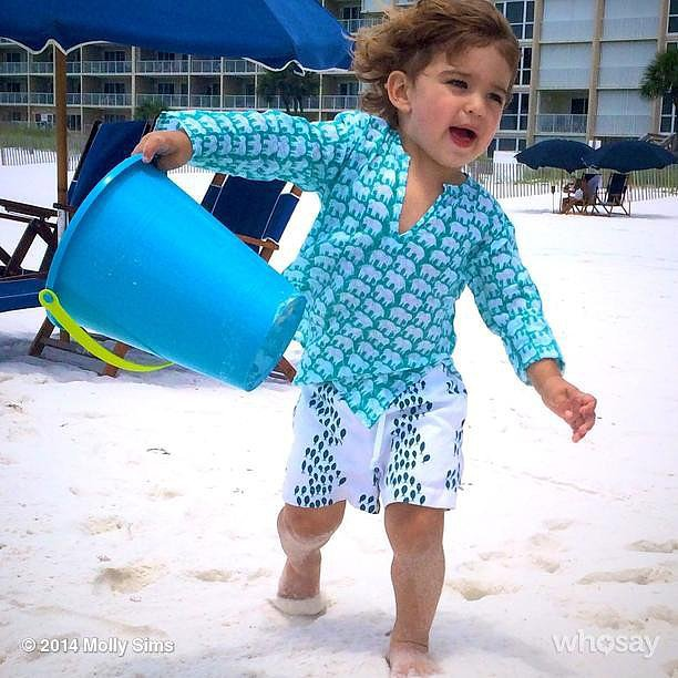 Brooks Stuber ruled the beach in Florida. Source: Instagram user mollybsims