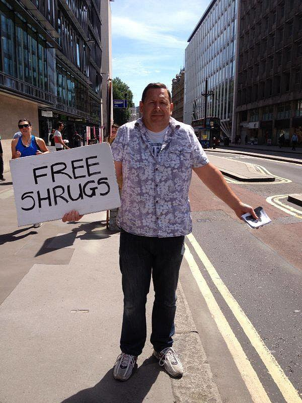 """Caught this guy walking around in London earlier."" Source: Reddit user LethalJizzle via Imgur"