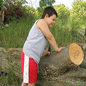 Boy Saves Dad From Fallen Tree