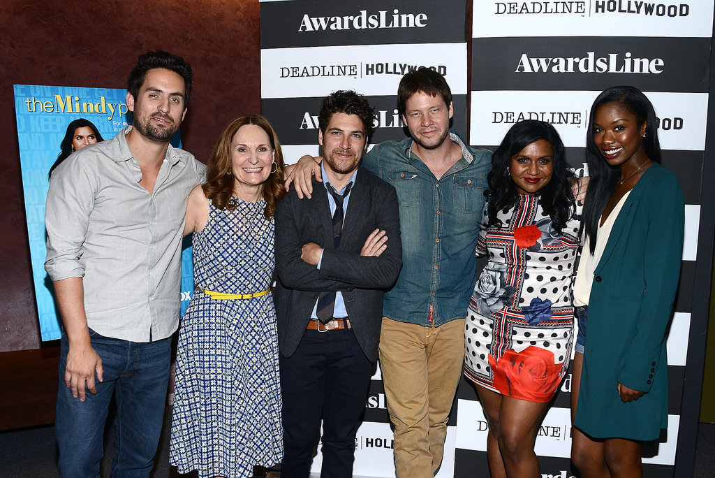 The Mindy Project's  Ed Weeks, Beth Grant, Adam Pally, Ike Barinholtz, Mindy Kaling, and Xosha Roquemore got close at a screening on Thursday in LA.