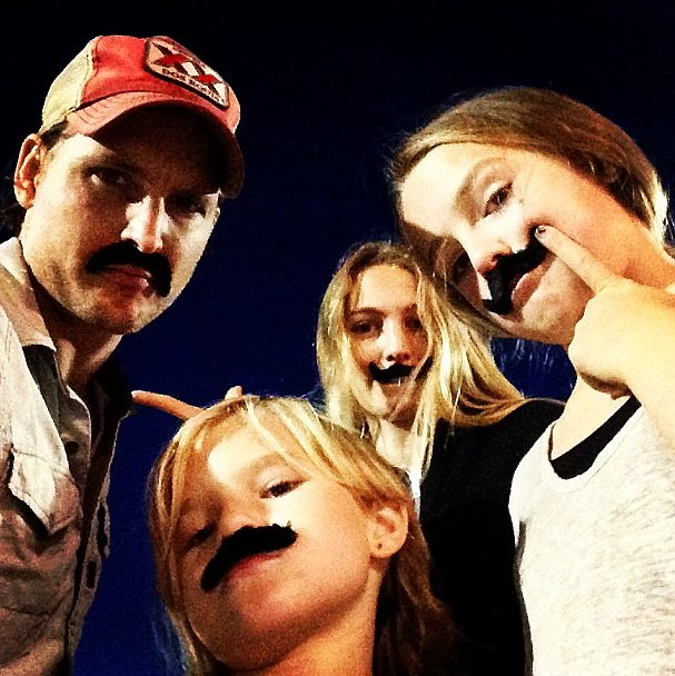 Peter Facinelli With Lola, Fiona, and Luca