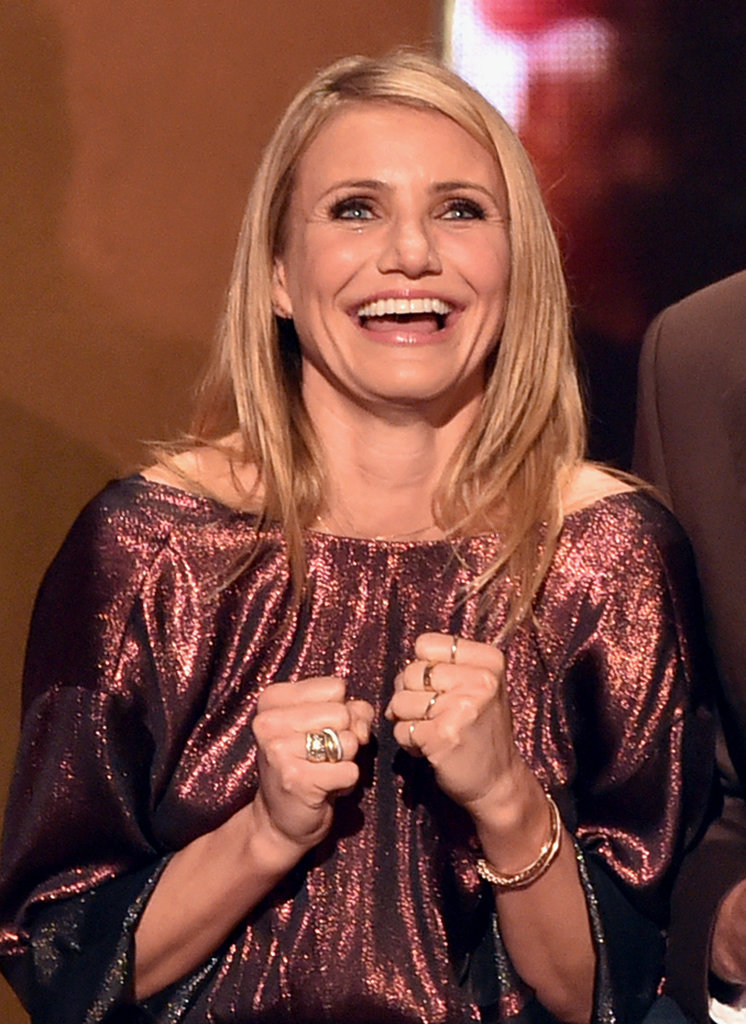 Cameron Diaz flashed her megawatt smile.