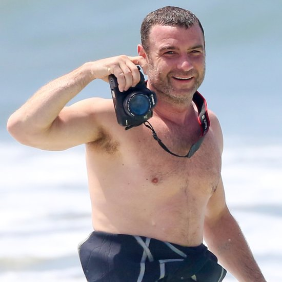 Shirtless Liev Schreiber and Naomi Watts at the Beach