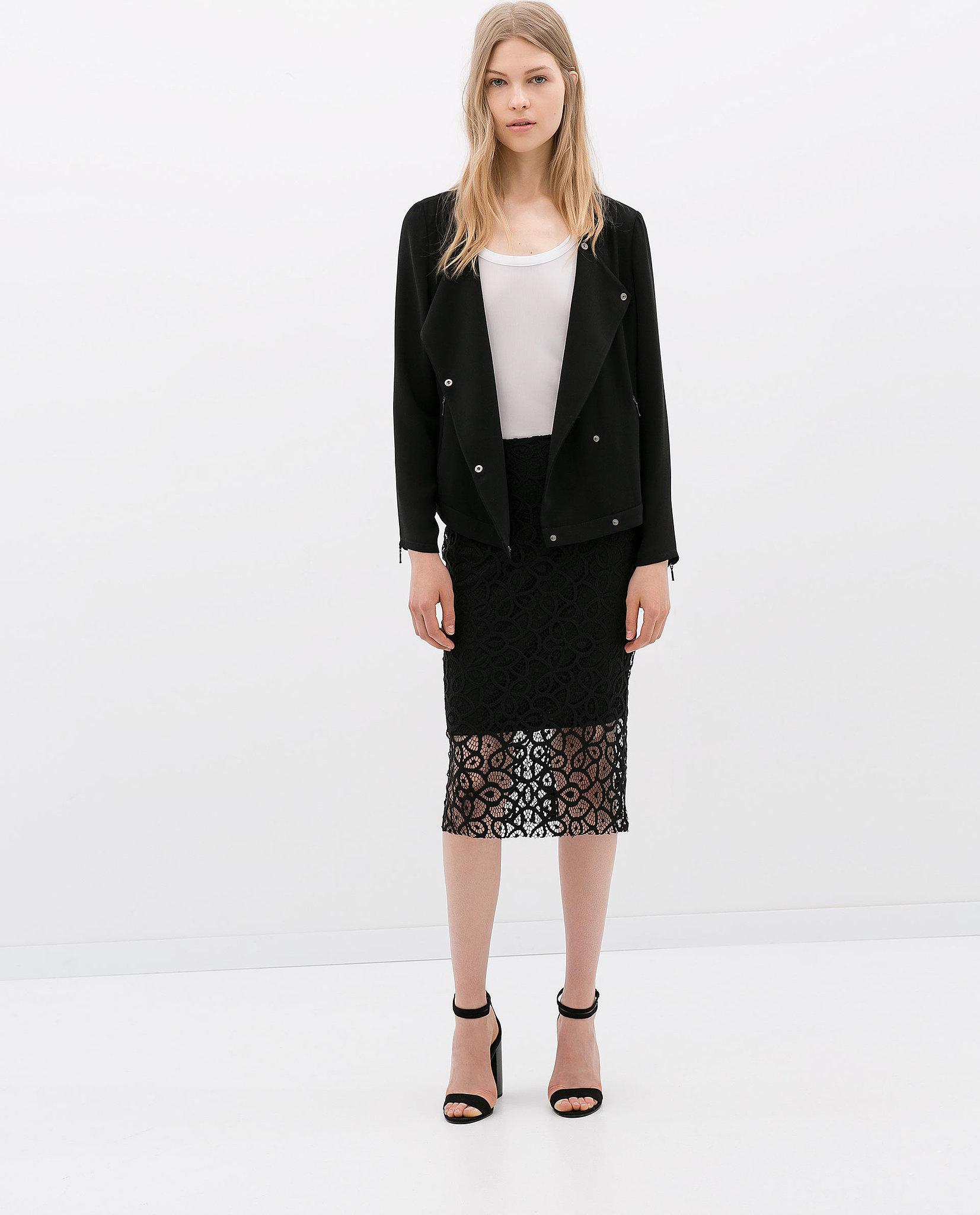 Zara Lace Pencil Skirt