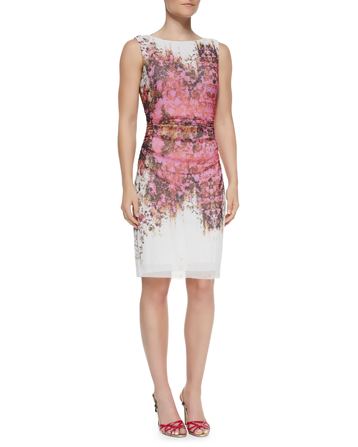 Kay Unger Floral Sheath Dress