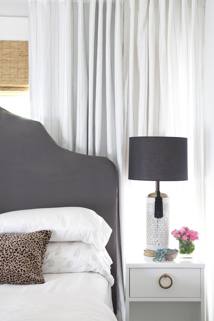 Metallics in a bedroom are a must, but there is a right way to style them. If you're mixing styles with your guy, keep metallic accents subtle. Try a few flea-market finds like vintage ashtrays on your nightstand, or choose lamps with a polished touch.  Source:  Bethany Nauert via Homepolish
