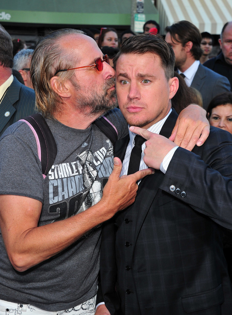 Channing's costar Peter Stormare gave him a kiss.