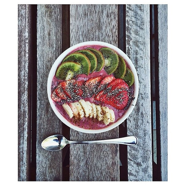 Top your acai bowl with a serving of chia seeds or, if you prefer, blend them into your smoothie mixture for extra fiber and omega-3s.