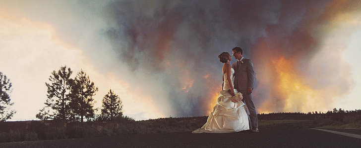 Wildfire to Thank For Breathtaking Wedding Photos