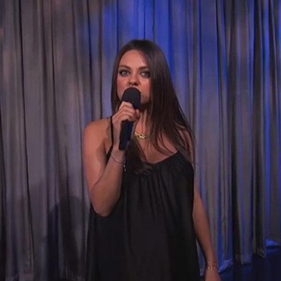 Mila Kunis Pregnancy Announcement on Jimmy Kimmel Live