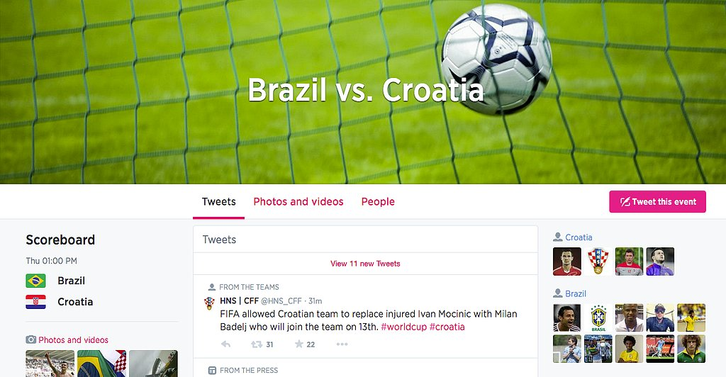Follow custom timelines for each individual game on Twitter.