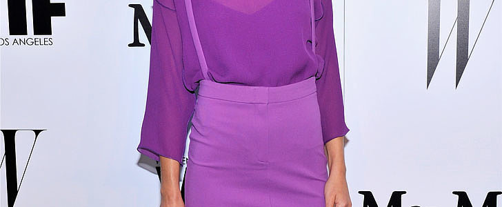 Why Is This Star Wearing Head-to-Toe Purple?