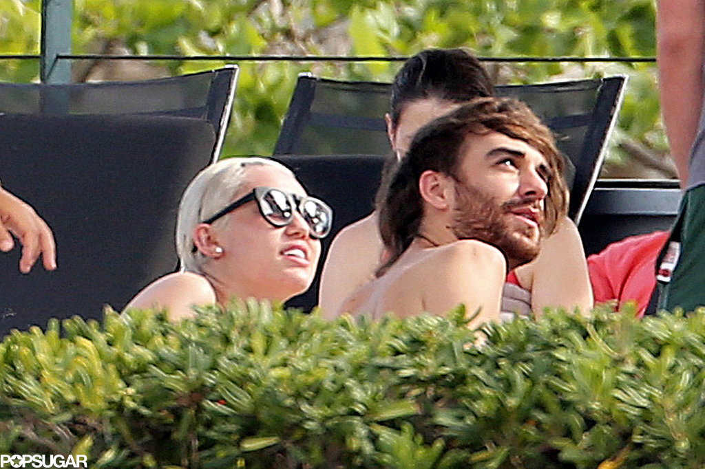 Miley Kisses Her Best Friend During a Wild Bikini Party