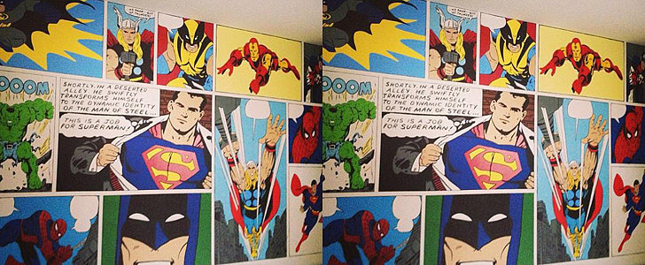Best Mom Ever Paints Superhero Mural For Her Kid's Bedroom
