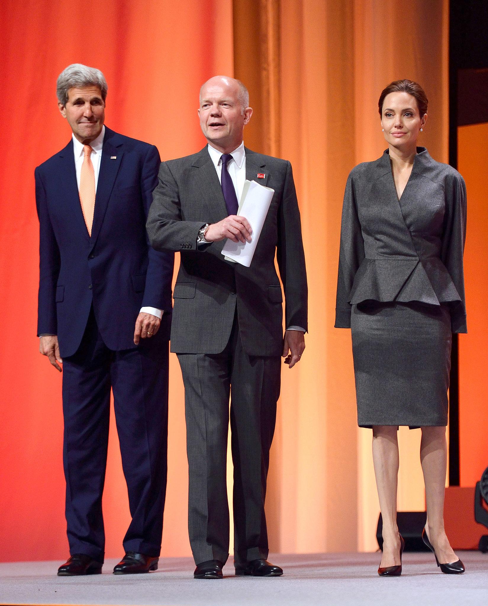 Angelina Keeps Brad Close at Her Global Summit