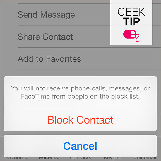 Block an annoying texter.