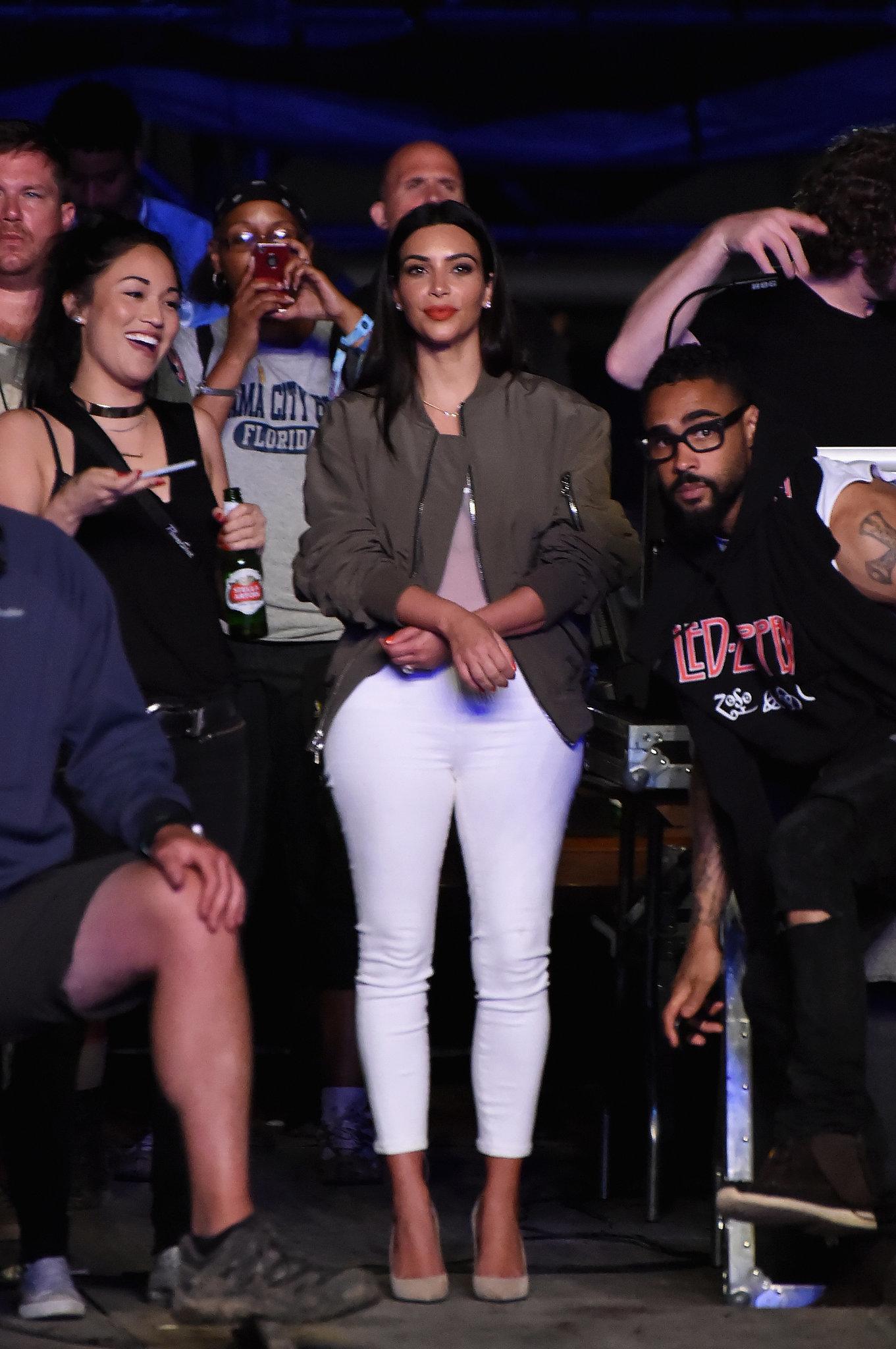 Kim's Cleavage Steals Kanye's Spotlight at Bonnaroo