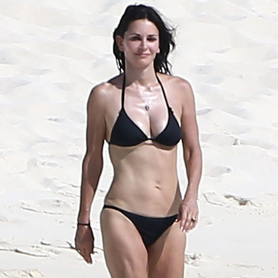Courteney Cox in a Bikini on Vacation With Johnny McDaid