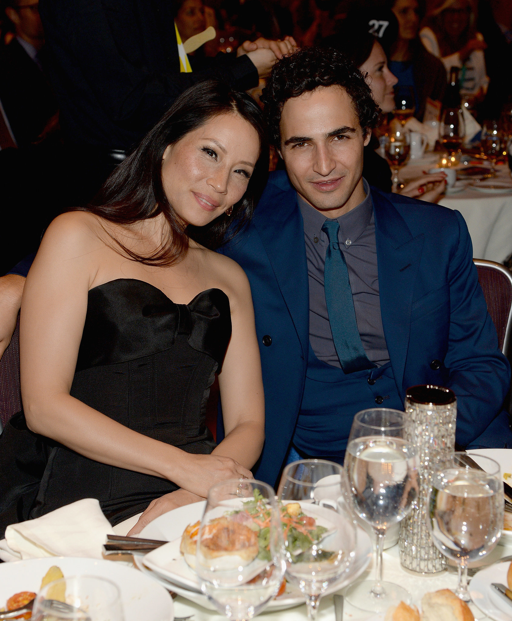Lucy and designer Zac Posen cozied up at their table.