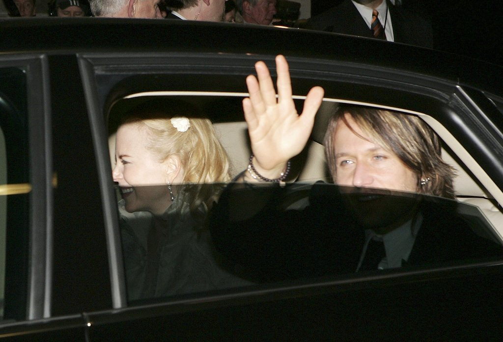 In June 2006, Nicole and Keith waved goodbye while leaving their wedding in Sydney.