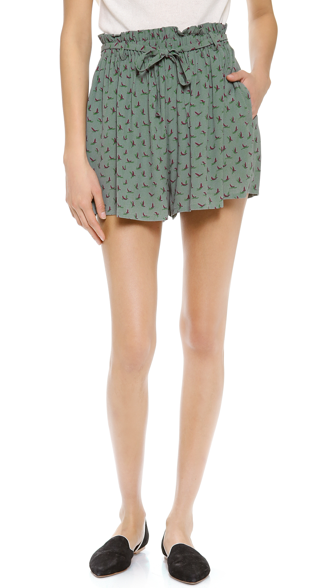 Joie Paper-Bag Waist Shorts