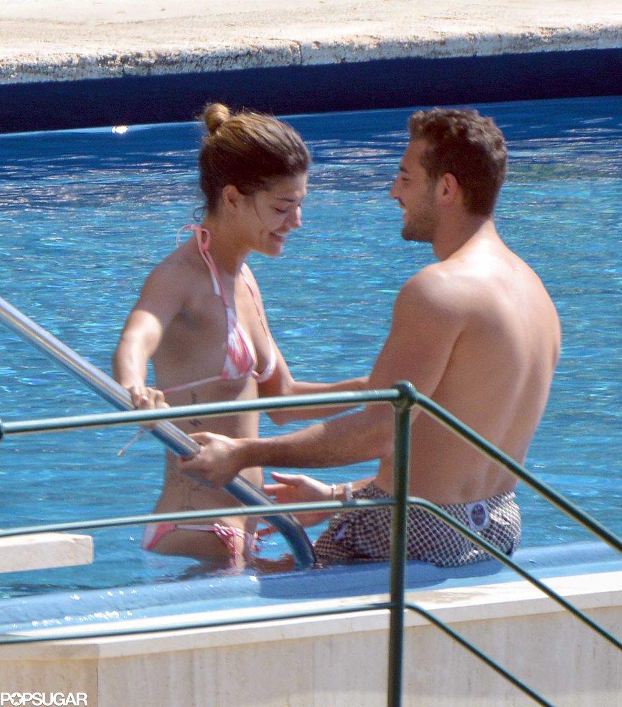 Jessica Szohr and her rumored boyfriend, Tommy Chiabra, showed some love in Portofino, Italy, on Wednesday.