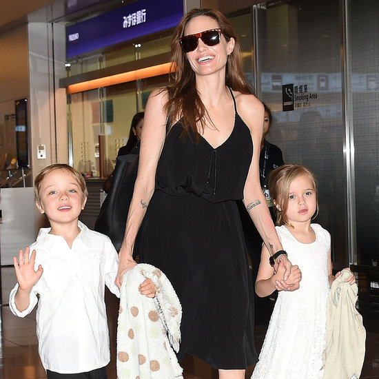 Angelina Jolie and Kids in Tokyo