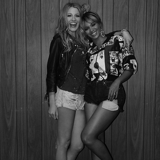 Beyonce and Blake Lively On the Run Video Pictures
