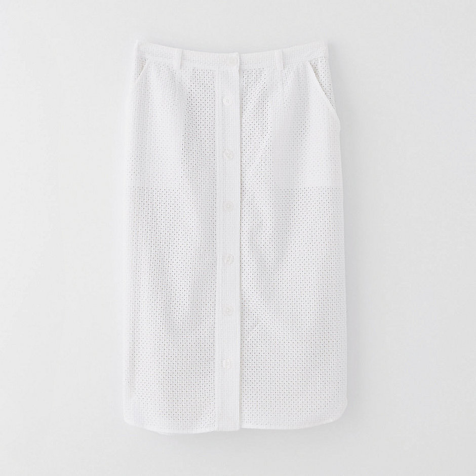 Steven Alan Eyelet Pencil Skirt