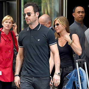 Jennifer Aniston and Justin Theroux in NYC in June 2014