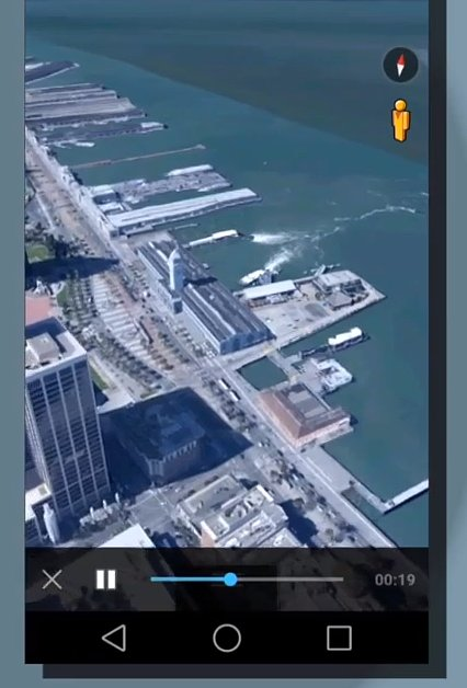 Google Earth on Android L. Transparency!