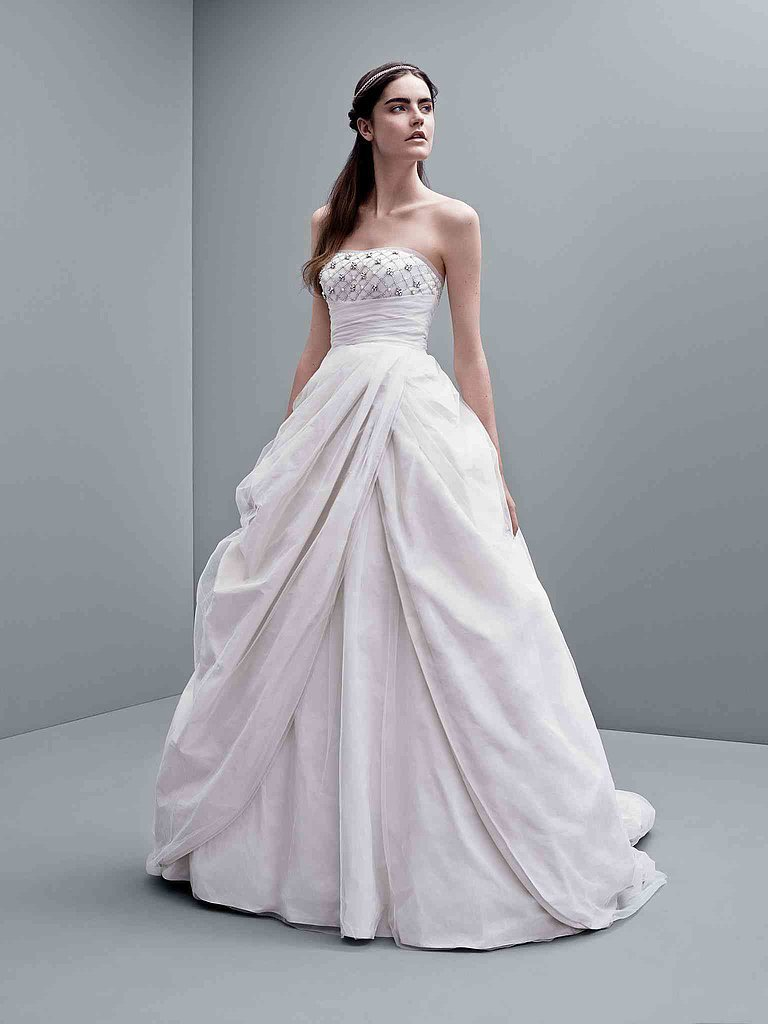 White by vera wang wedding dress collection popsugar for White vera wang wedding dresses