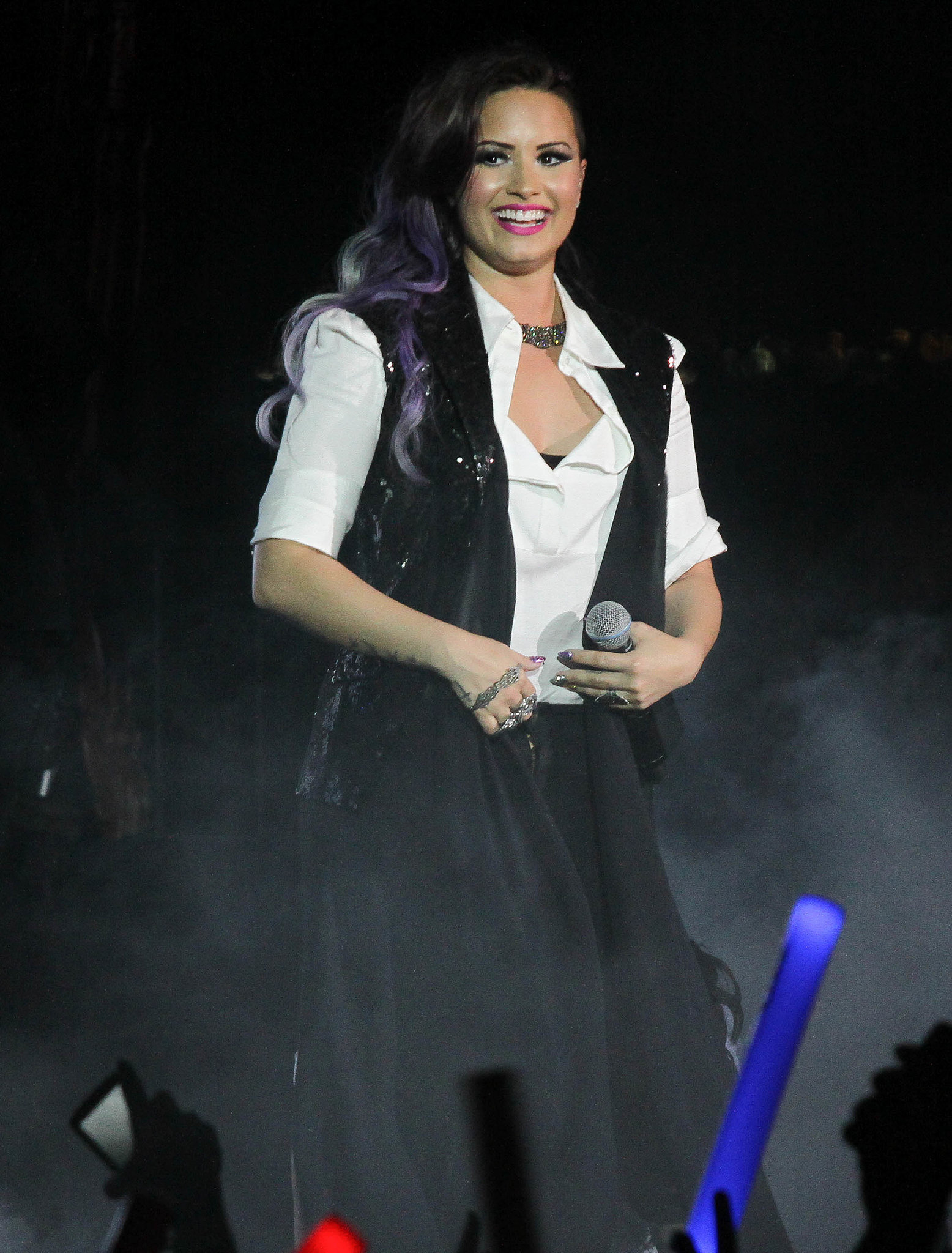 Demi Lovato performed at NYC's Dance on the Pier gay pride event on Sunday.