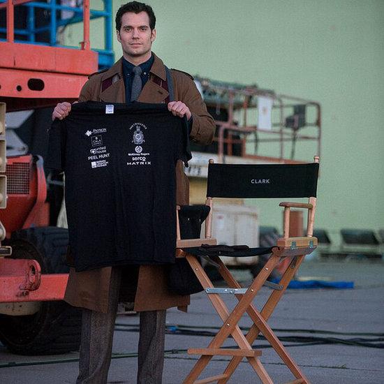 First Picture Henry Cavill As Clark Kent Batman V Superman
