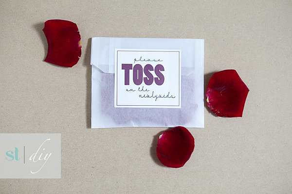 Flower Toss Favors