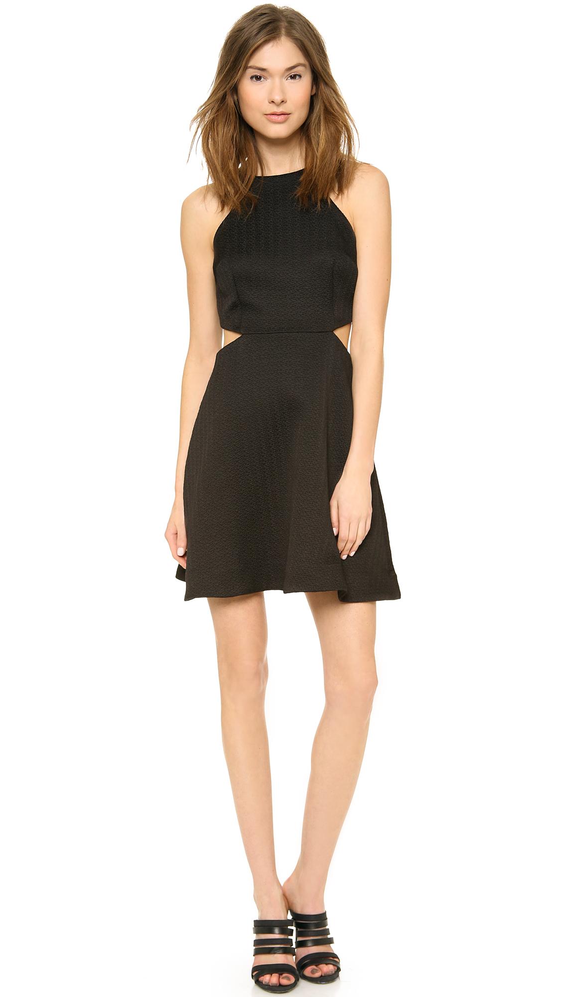 Club Monaco Black Cutout Dress