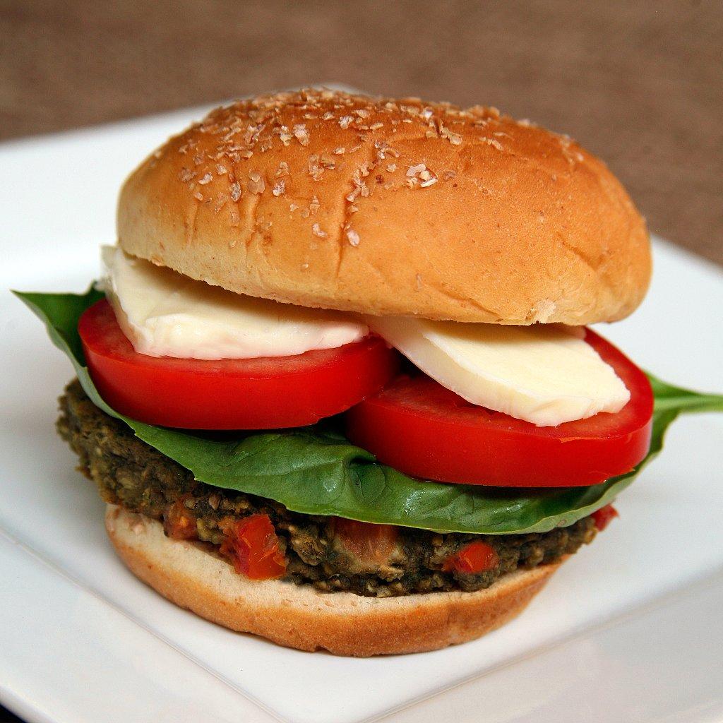 Caprese Veggie Burger | POPSUGAR Fitness